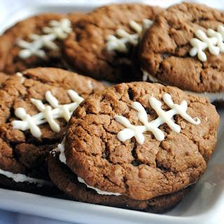 Chocolate Oatmeal Cream Pie Footballs.