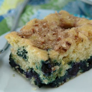Healthy Blueberry-Lemon Coffee Cake.