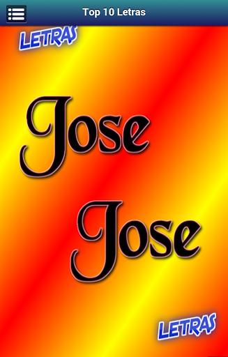 Letras Jose Jose