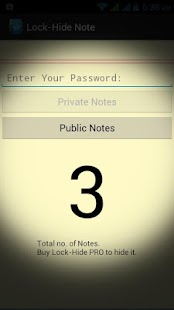 Lock-Hide Note - screenshot thumbnail