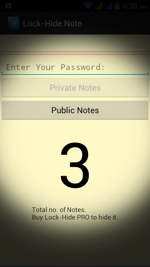Lock-Hide Note - screenshot