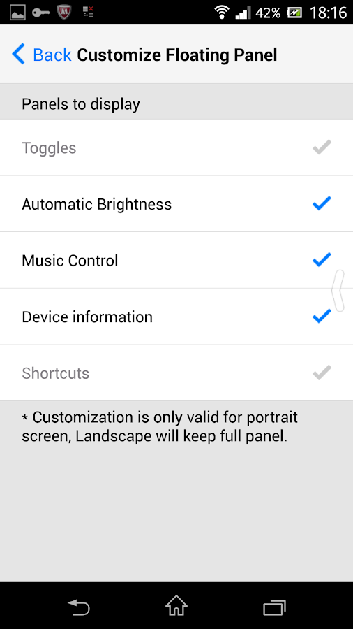 Control Panel  - Smart Toggle- screenshot