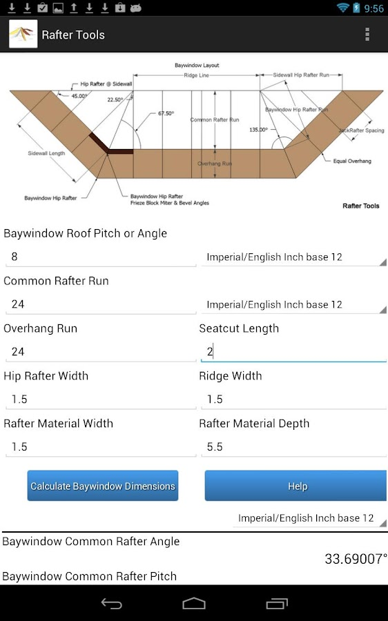 Rafter Tools- screenshot