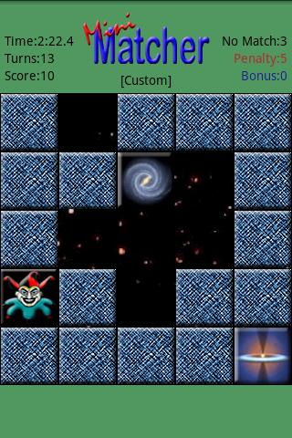 miniMatcher - screenshot