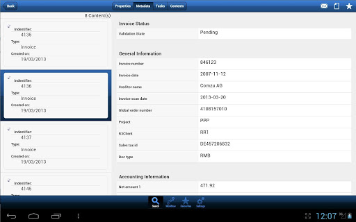 IRISCloud Invoice