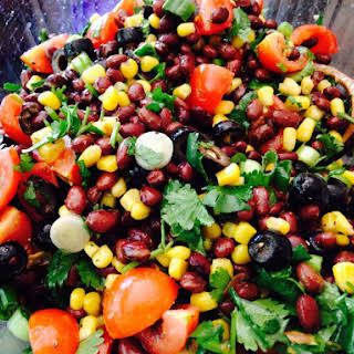 Quick and Easy Bean Salsa.