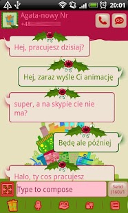 GO SMS Christmas Gifts Theme- screenshot thumbnail
