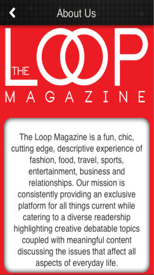 The Loop Magazine- screenshot