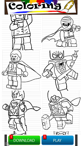 Lego Coloring Super Hero Kids
