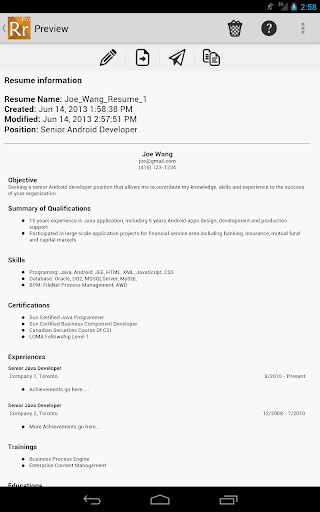 【免費商業App】Resume Ready Lite-APP點子