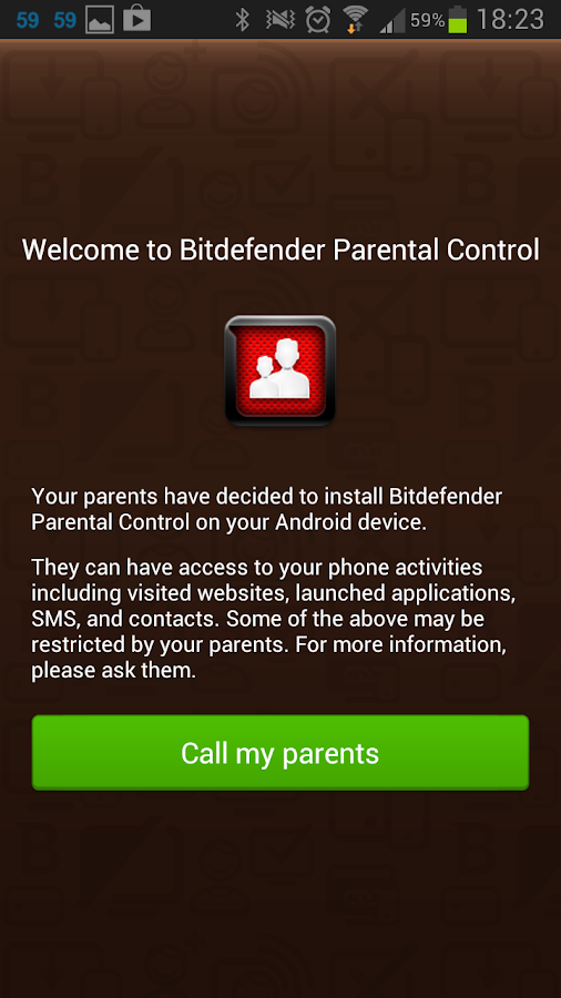 Bitdefender Parental Control- screenshot