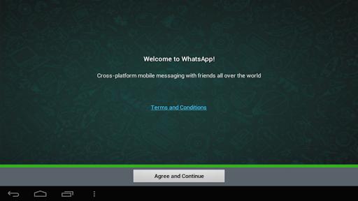 安装了WhatsApp在平板電腦上