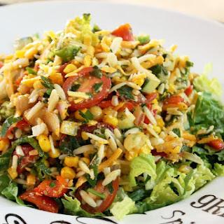 Chopped Orzo Corn Salad with Lemon Vinaigrette.