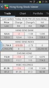 Hong Kong Stock Viewer HK