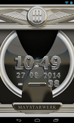 Digi Clock Widget Iron Sun APK screenshot thumbnail 2