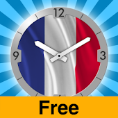 France Flag Analog Clock Lite
