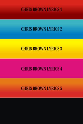 Just The Lyrics - Chris Brown