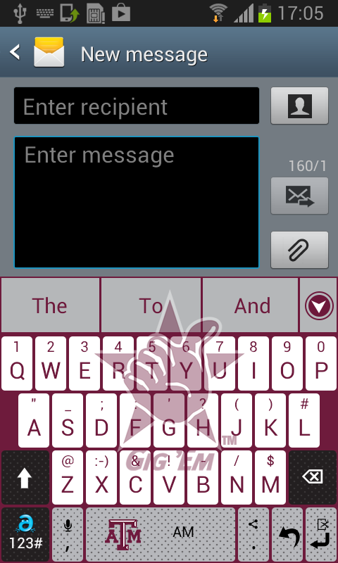 Texas A&M Keyboard- screenshot
