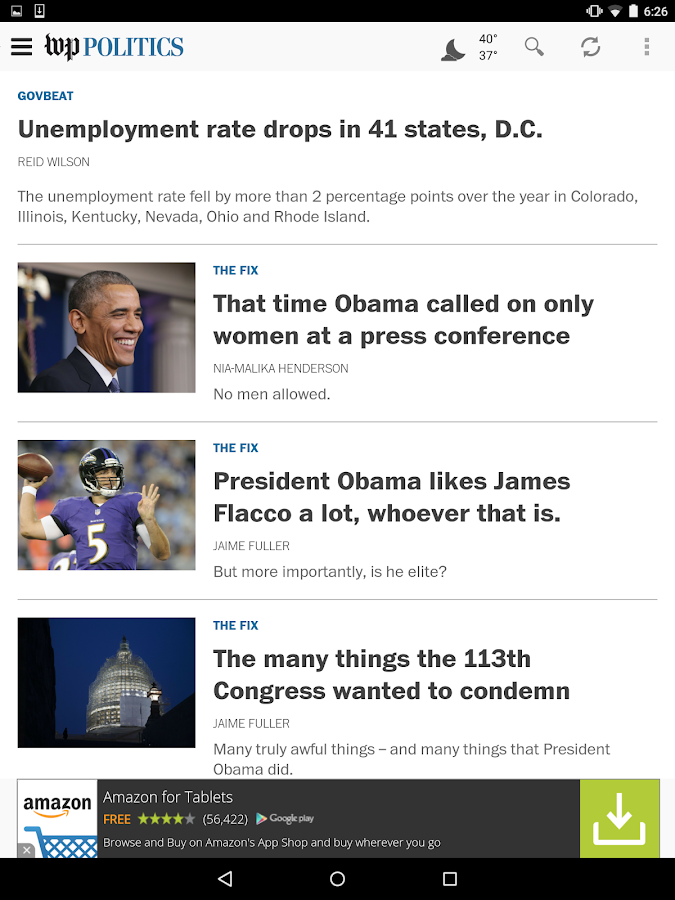 The Washington Post- screenshot