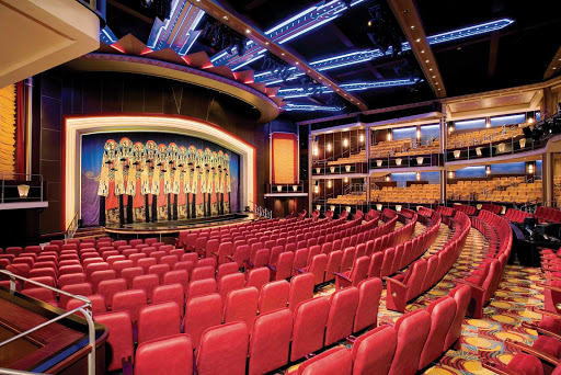 Freedom-of-the-Seas-Arcadia-Theater - Freedom of the Seas' multi-level Arcadia Theater features contemporary musical productions, drama, cabaret and other nightly entertainment.