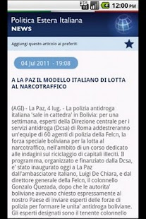 Politica Estera Italiana- screenshot thumbnail