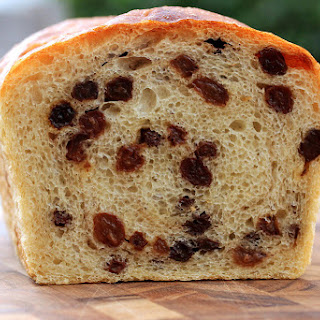 Sourdough Cinnamon Raisin Bread.