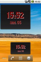 Screenshot of Digital Clock Widget