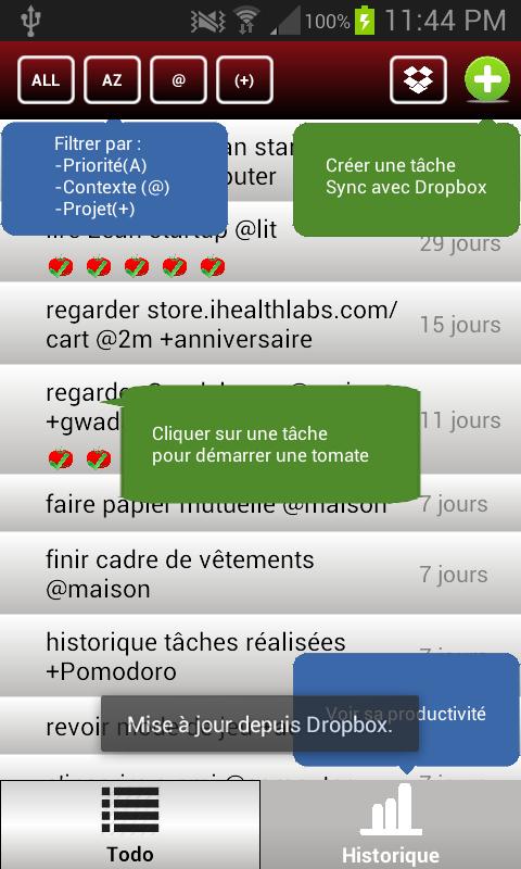 Pomodoro.txt - screenshot