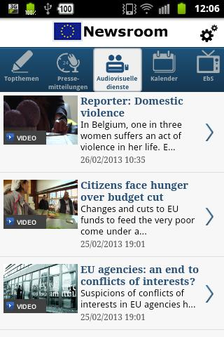 EU Newsroom - screenshot