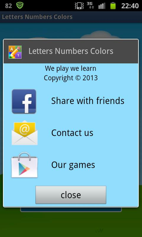 English Letters Numbers Free - screenshot