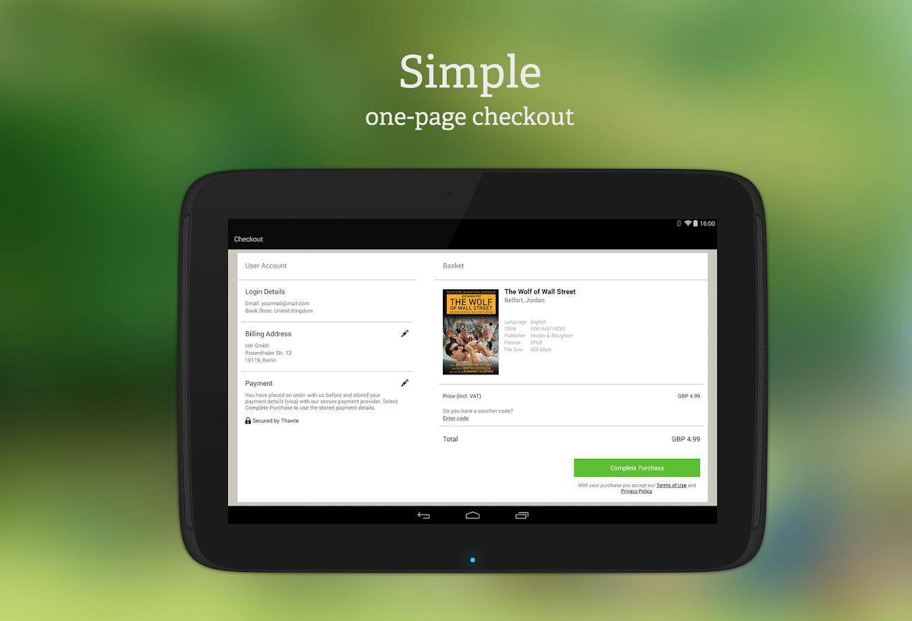 txtr ebooks - screenshot