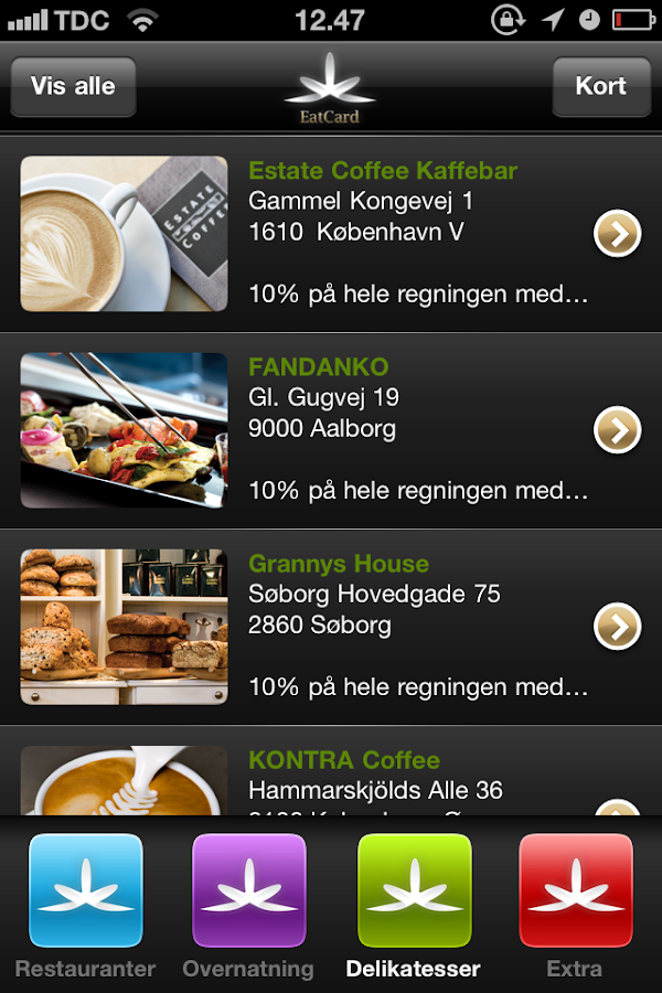 EatCard - screenshot