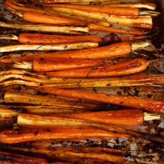 Maple-Glazed Parsnips And Carrots.