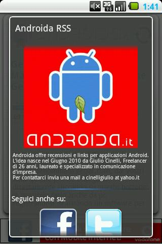 Androida - screenshot