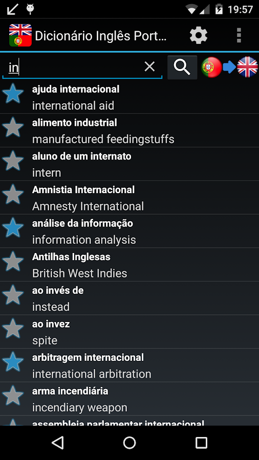 Offline English Portuguese dic- screenshot
