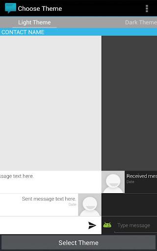 Sliding Messaging Theme Engine