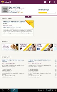 Ashford University Tablet- screenshot thumbnail