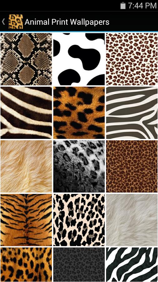 animal print wallpapers screenshot