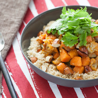 Moroccan Vegetable Stew with Whole Wheat Couscous.