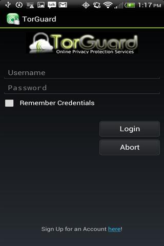 TorGuard VPN - screenshot