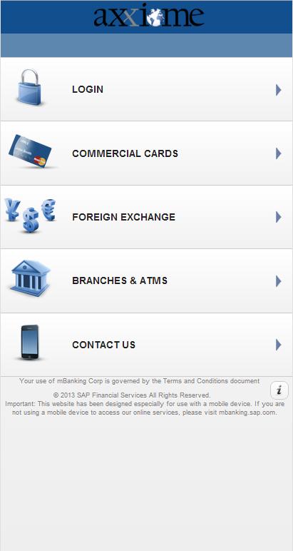 Axxiome - mBanking Corporate - screenshot