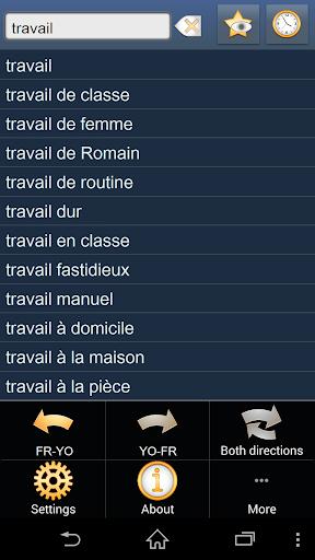 French Yoruba dictionary