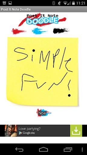 Post It Note Doodle