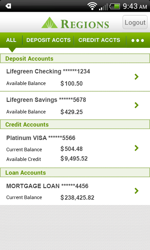 Regions Bank- screenshot