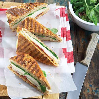 Turkey Paninis with Sun-Dried Tomatoes.