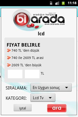 Biarada Fiyat Arama Motoru - screenshot