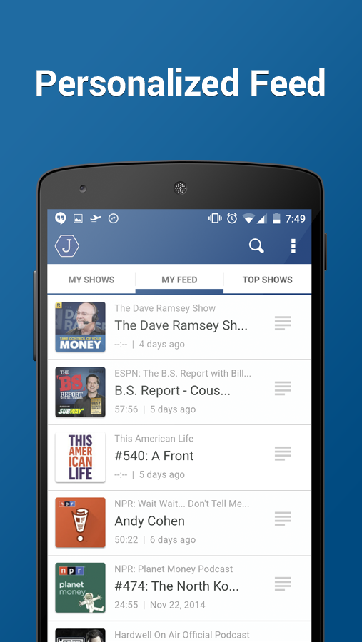 Joyride Podcast Player - screenshot
