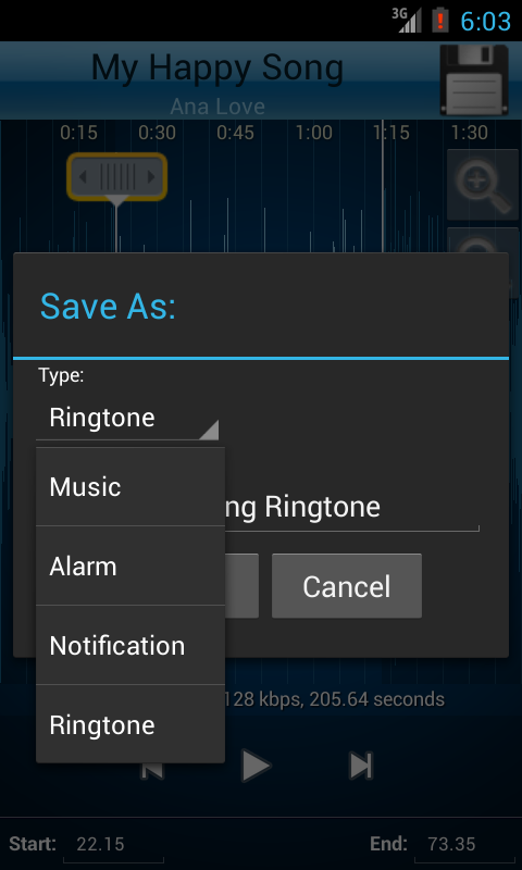 MP3 Cutter and Ringtone Maker♫- screenshot