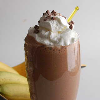 Chocolate Banana Smoothie.