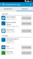 Screenshot of BES12 Client